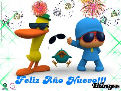 Watch and share Feliz Año Nuevo-Pocoyo GIFs on Gfycat