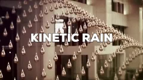 Watch and share Another Kinetic Installation - Kinetic Rain GIFs on Gfycat