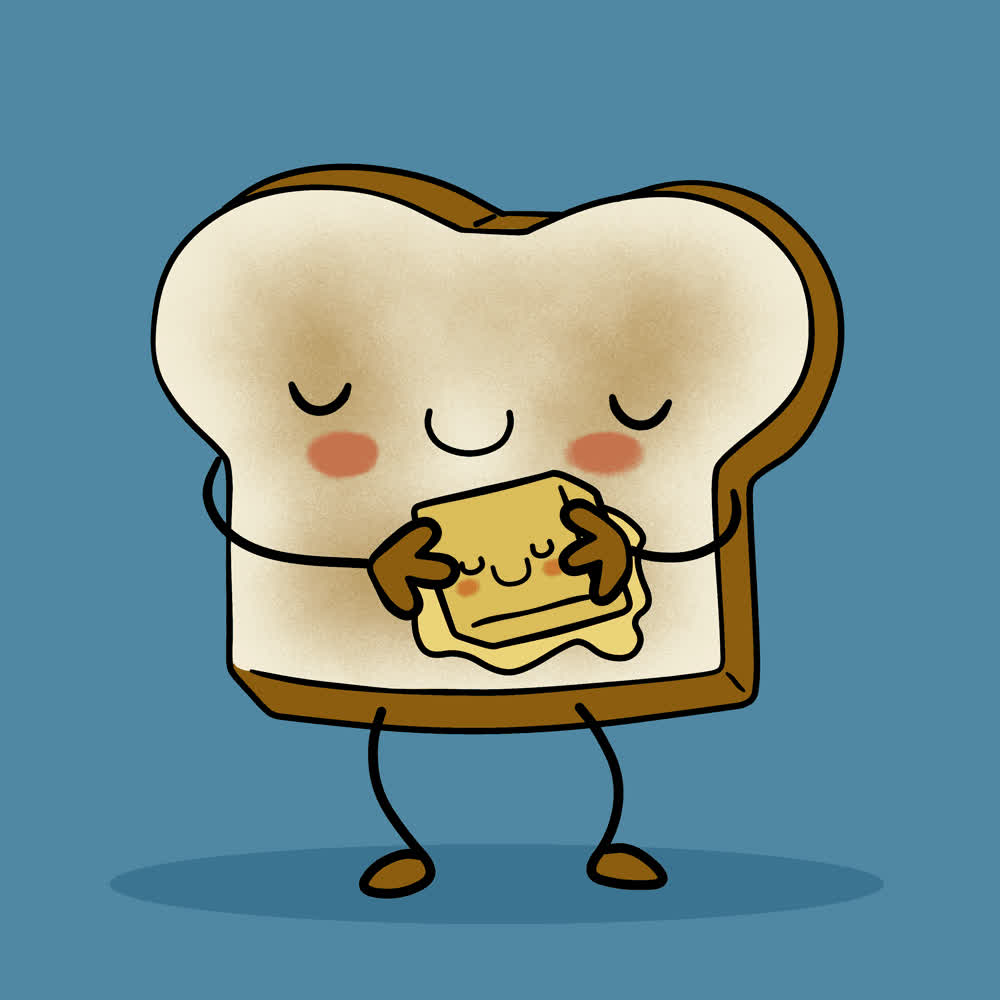 beckadoodles, bread and butter, i love you, love, You Melt My Heart GIFs