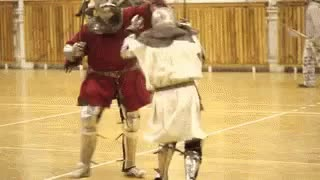 cosplay, flying kick, funny, kick, larp, sca, silly, weird, wtf, Nobody expects the SCA Inquisition GIFs