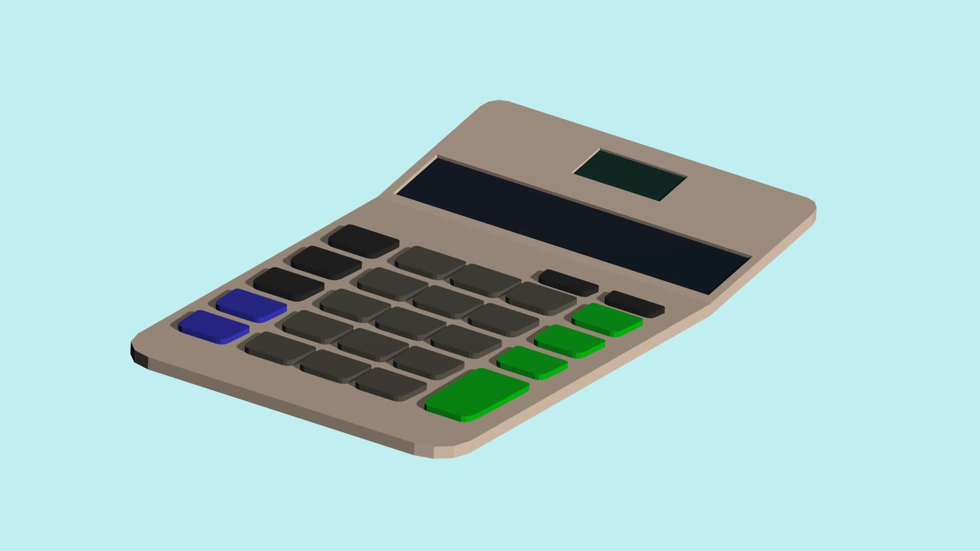Low-Poly, Orthographic, Simple Low-Poly Calculator GIFs