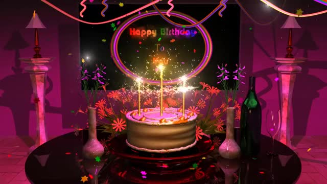Watch Magical Cake Animated Happy Birthday Song GIF By DeeBrhm Deebrhm On Gfycat