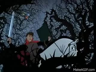 Watch and share Sleeping Beauty - Philip Fights The Dragon - Kiss From A Rose GIFs on Gfycat