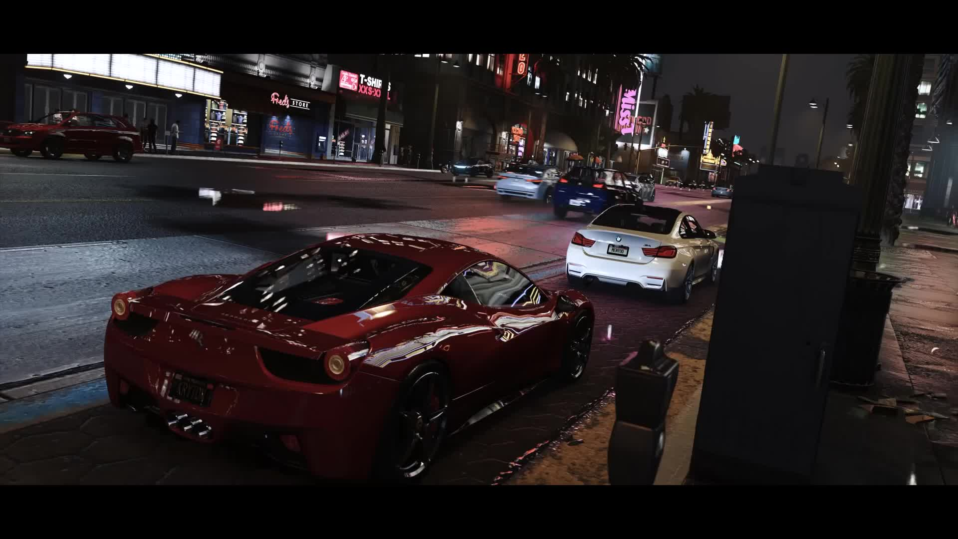 grand theft auto, gta5, mod, GTA5 natural vision by hazed GIFs