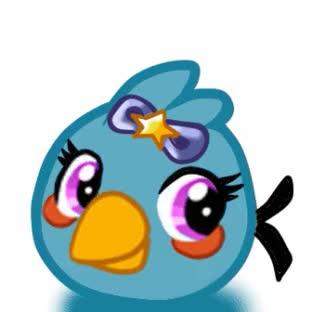 Watch and share GIF Angry Birds OC's: Bluemy Bird By Taru-Blue-Angrybird GIFs on Gfycat