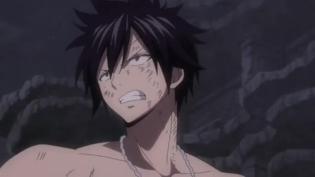 Watch and share Fairy Tail 2014 - Gray Ice-Make Gungnir GIFs by artres102 on Gfycat