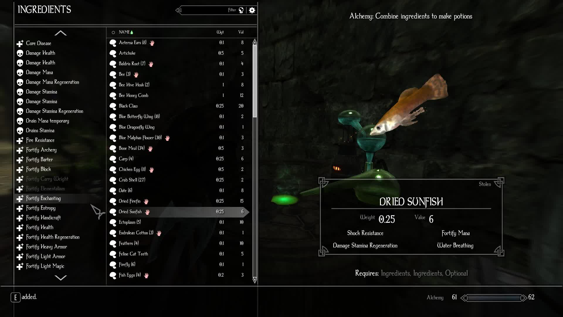 Bug, Enderal, RPG, Skyrim, Minute long poison duration with human flesh/heart and stain mushrooms GIFs