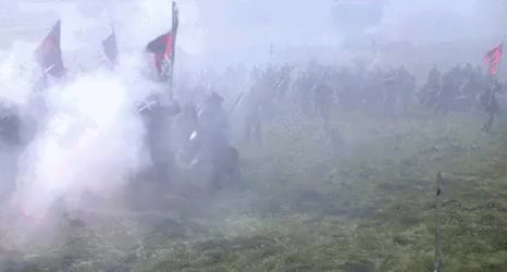 Watch Confederate Soldiers Charging Union Position GIF by @nurdbot on Gfycat. Discover more related GIFs on Gfycat