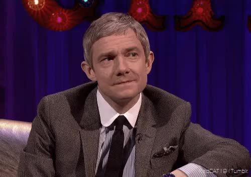 Watch and share Martin Freeman GIFs and Your Face Sir GIFs on Gfycat