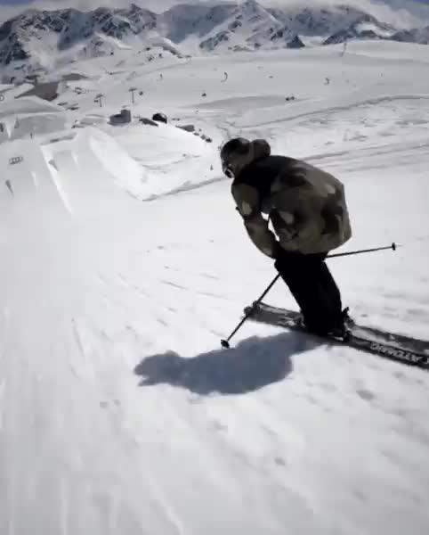 Triple front flip on skis oddlysatisfying GIFs
