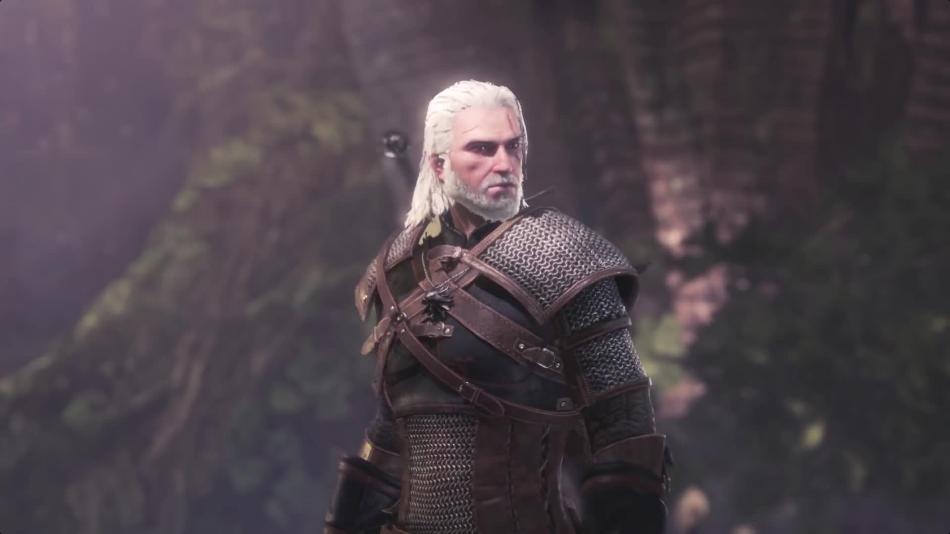 Cat, Cutscene, Gaming, Geralt, Geralt of Rivia, Gift, Meow, Monster Hunter, Monster Hunter Cutscene, Monster Hunter World, Palico, Palico Meowing, Palicoes, Sharing, Witcher, Witcher 3, kitties, mhw, mhw x witcher, mhw x witcher 3, Offering Geralt a Gift GIFs