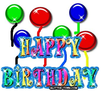 Watch and share Happy Birthday Myspace Glitter Grap animated stickers on Gfycat