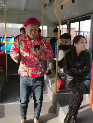 Watch and share Man Singing In A Bus...| Little Jazi Laughs GIFs by Microcosmos on Gfycat