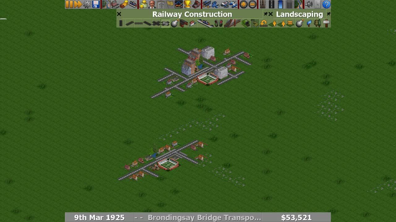 OpenTTD, Rail Pathbuilder Demo 5 GIFs