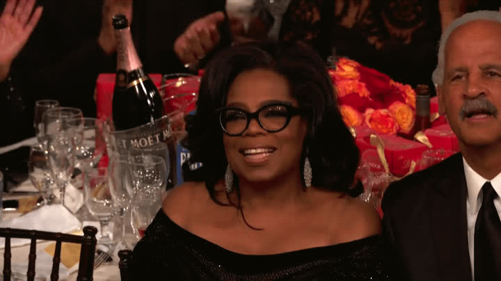 2018, blessed, golden globes, grateful, humbled, oprah, oprah winfrey, stedman graham, thank you, thanks, Oprah Thank You GIFs