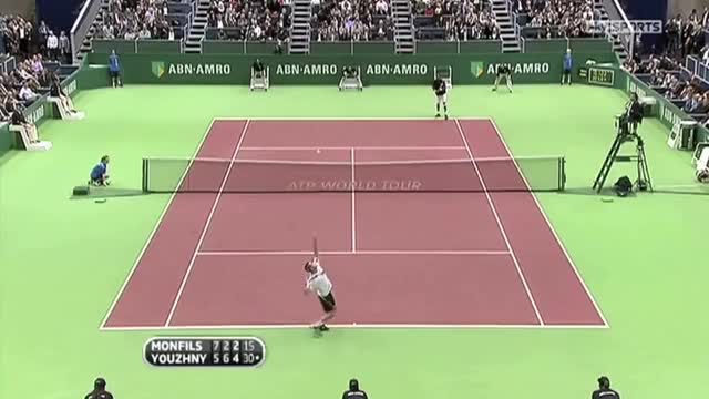 Watch and share Monfils - Youzhny Hot Shot GIFs on Gfycat