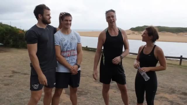 Watch Matt & David's Charity Training GIF on Gfycat. Discover more Manly, nrl, wolfman GIFs on Gfycat