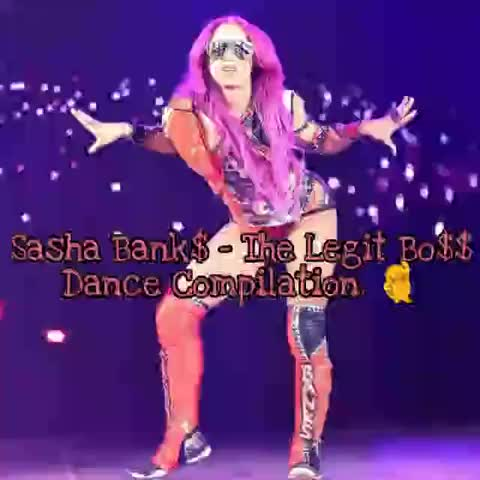 Sasha Banks Dance Compilation 💃 GIFs