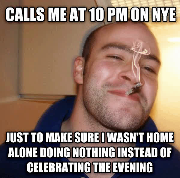AdviceAnimals 2014-01-01 larry friend nye home GIFs