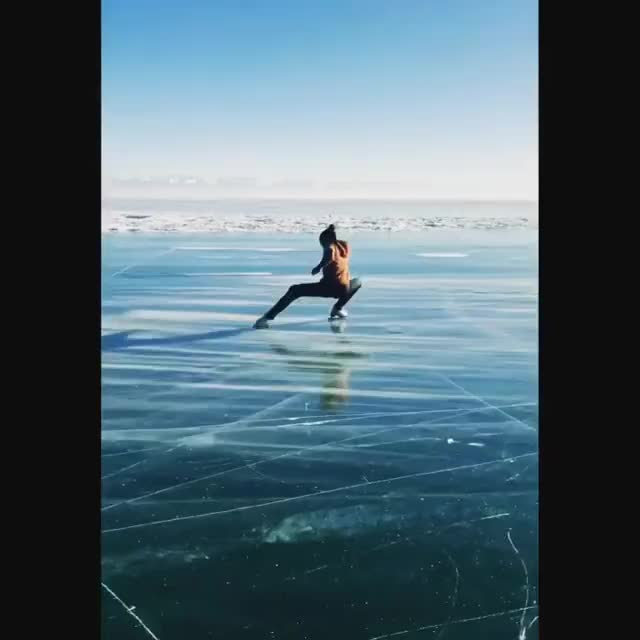 Watch and share Figure Skater On Lake Baikal GIFs by PM_ME_STEAM_K3YS on Gfycat
