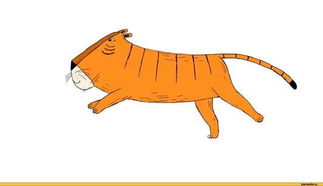 Watch and share Gif-анимация,gif,тигр,бег,песочница GIFs on Gfycat