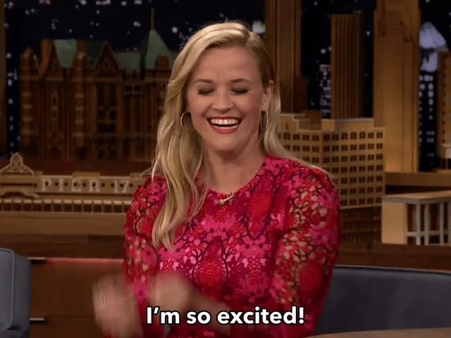 Watch and share Reese Witherspoon GIFs and Excited GIFs by Reactions on Gfycat