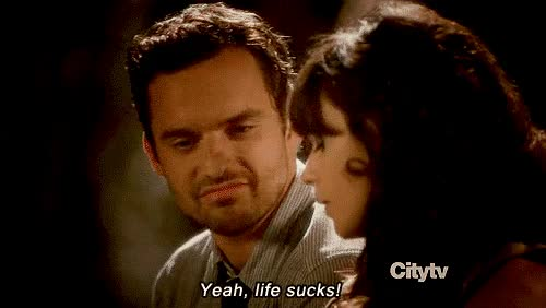 Watch and share Jake Johnson GIFs and Yousuck GIFs by Reactions on Gfycat