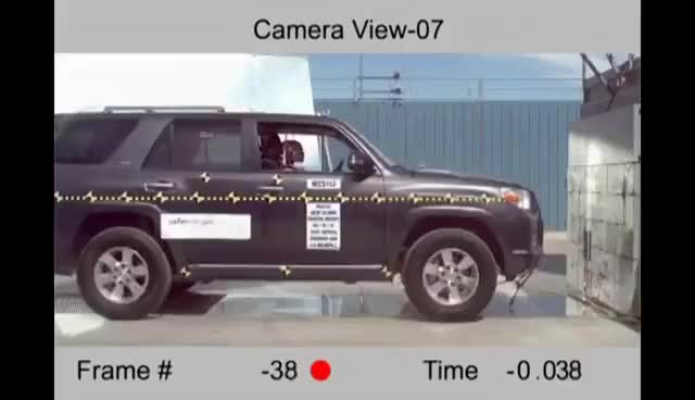 Watch and share 2012-2016 Toyota 4Runner NHTSA Frontal Impact GIFs on Gfycat