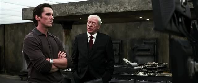 Watch and share Christian Bale GIFs and Michael Caine GIFs by aphilosopherofmen on Gfycat