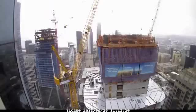 Watch Salesforce Tower rising - Time lapse GIF on Gfycat. Discover more related GIFs on Gfycat