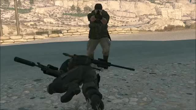 Watch and share Mgs V Prone Punch GIFs by snakesenpai on Gfycat