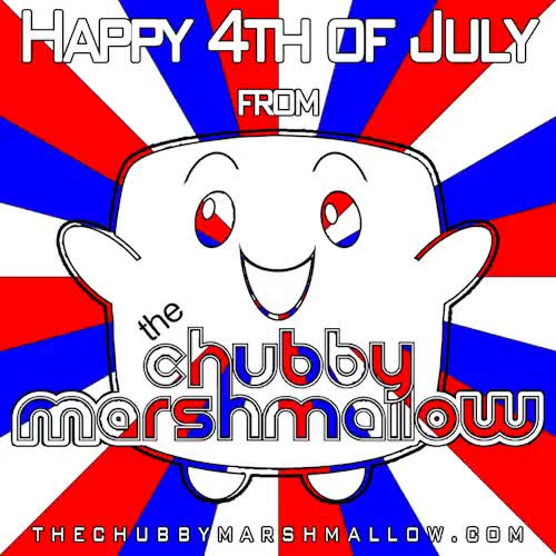 Watch Happy 4th of July, friends! I hope your day is filled with f GIF on Gfycat. Discover more 4th of july, america, chubby marshmallow, cookout, follow, follow me, good times, independence day, marvin marshmallow, red white and blue GIFs on Gfycat