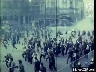 Watch Riots In Paris (1968) GIF on Gfycat. Discover more related GIFs on Gfycat