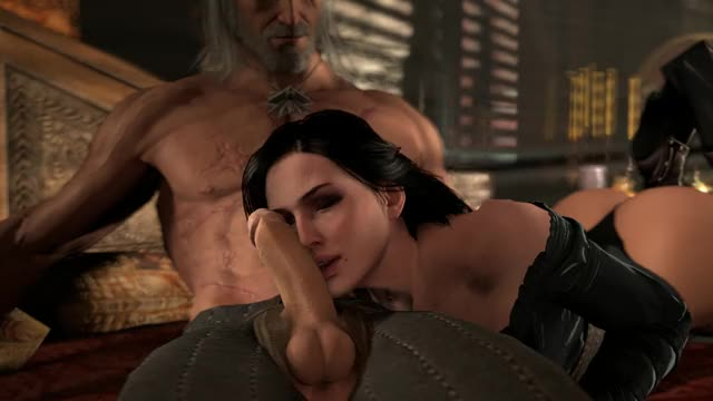 yennefer licking Geralt,