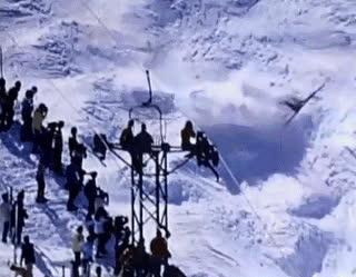 Skiing down the mountain • r/nonononoyes GIFs