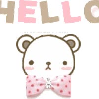 Watch and share Kawaii Bear Hello GIF animated stickers on Gfycat