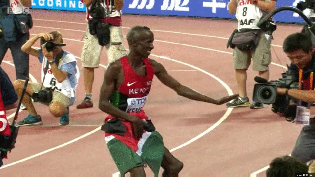 Ezekiel Kemboi Cements Status As Greatest Of All Time; Evan Jager's Medal Hopes Come Up Short GIFs