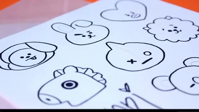 Watch DIY BTS BT21!!! GIF on Gfycat. Discover more Army, bt21, bts, ibighit, idol GIFs on Gfycat