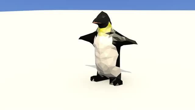 Watch and share Low Poly Penguin GIFs on Gfycat