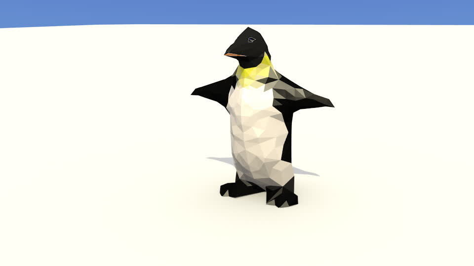 Low Poly Penguin GIFs