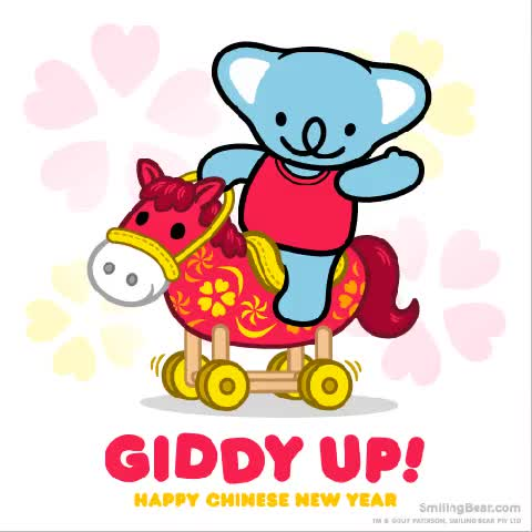 Watch and share Happy Chinese New Year Giddy Up See This On The animated stickers on Gfycat
