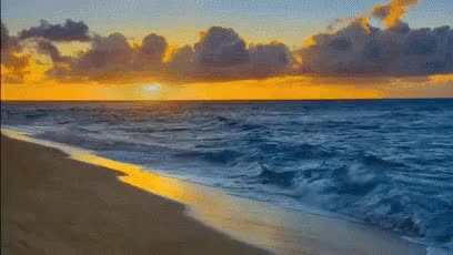 Watch this beach GIF on Gfycat. Discover more beach, dusk, sunset, waves GIFs on Gfycat