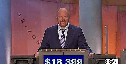 Watch and share Louis CK Wins Jeopardy GIFs by Dustin on Gfycat