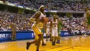 Watch Jermaine O'Neal  Indiana Pacers GIF on Gfycat. Discover more 2000s, Basketball, Dunk, Indiana Pacers, Jermaine O'Neal, NBA, date unk, gif GIFs on Gfycat
