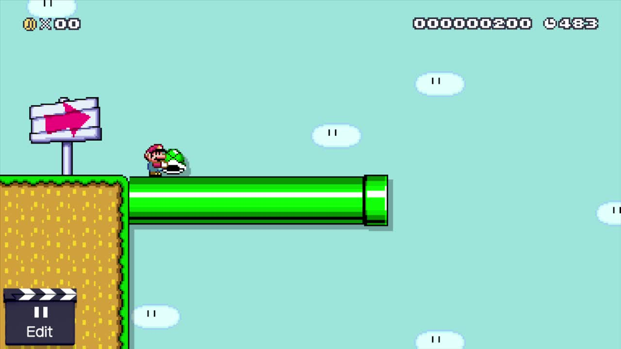 MarioMaker, mariomaker, Throwing a Shell While Falling GIFs