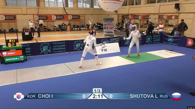 Watch CHOI I 0 GIF by Scott Dubinsky (@fencingdatabase) on Gfycat. Discover more gender: female, leftname: CHOI I, leftscore: 0, rightname: SHUTOVA L, rightscore: 1, time: 00009617, touch: right, tournament: barcelona2019, weapon: epee GIFs on Gfycat