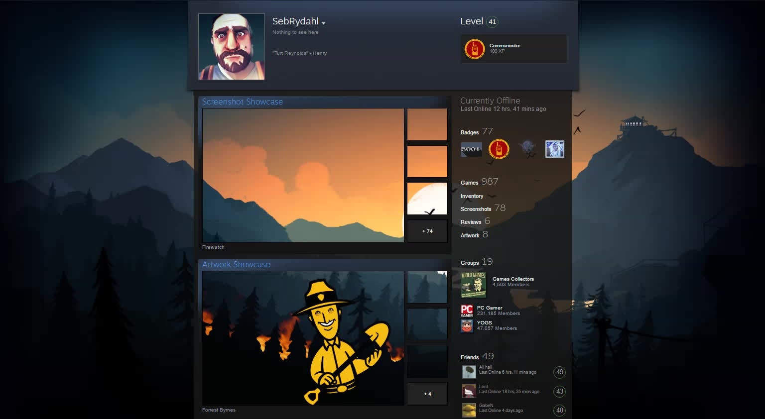 Firewatch, SteamArtworkProfiles, Firewatch Steam Profile GIFs