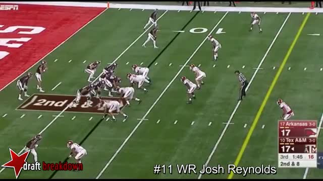 Watch and share WR Josh Reynolds Vs Arkansas 2016 GIFs on Gfycat