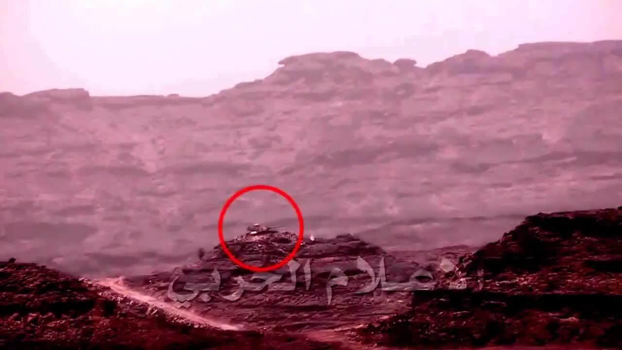 MissileGfys, missilegfys, Yemen War 2015 - Men Vs Tanks: Houthi Fighters Battle Saudi Arabian Tanks On Saudi Soil (reddit) GIFs