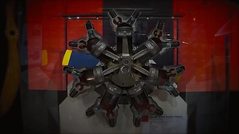 aviationgifs, interestingasfuck, Radial Engine GIFs